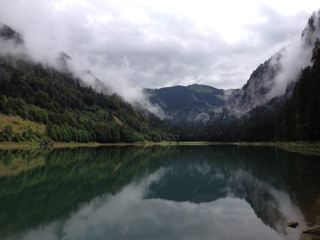Another view of the lake at Montriond