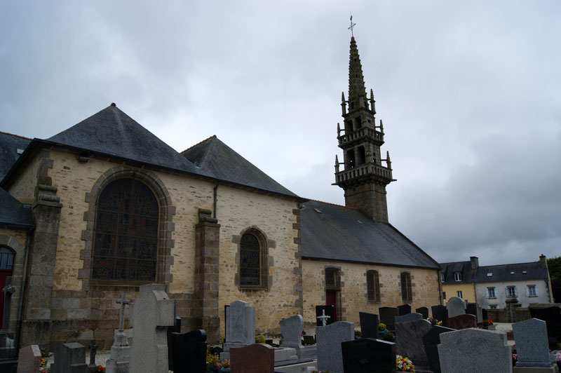 Another view of the churchyard