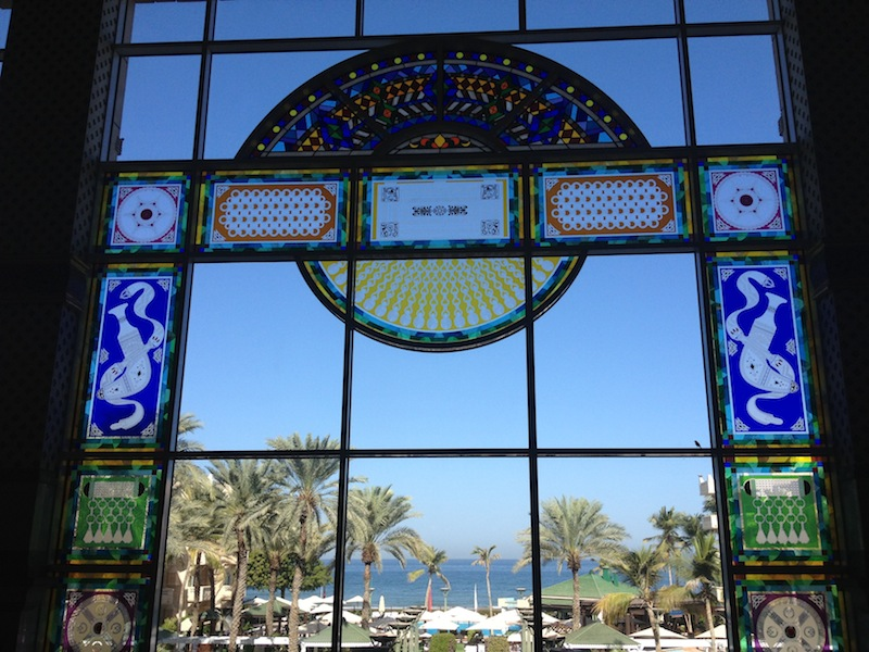 Looking out of the Grand Hyatt, Muscat