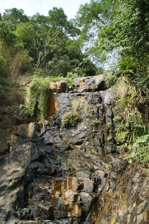 There's not much water on this Victoria Peak waterfall