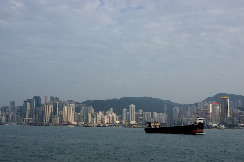 Hong Kong from the promenade in Kowloon