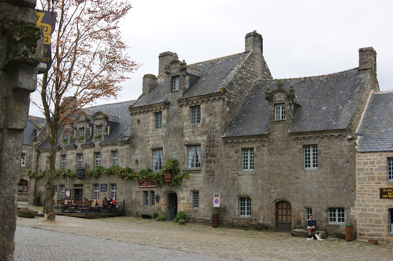 The main square of Locronan