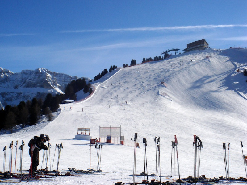 The top of the men's downhill course