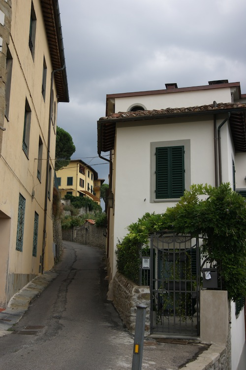 The narrow streets of Fiesole
