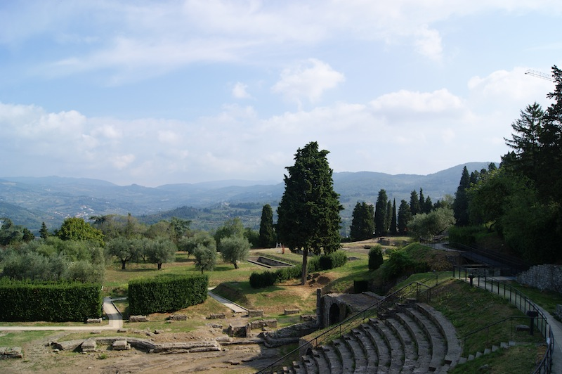 The historic remains at Fiesole