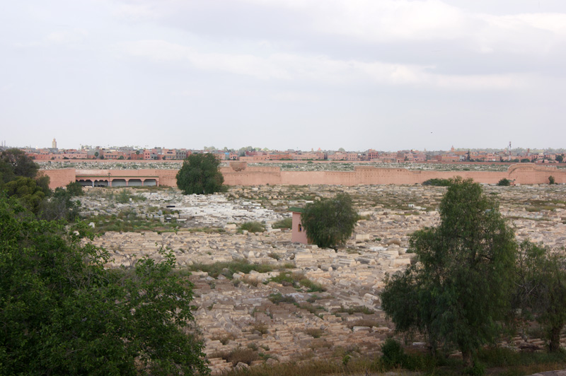 The old Jewish cemetery, from the rooftop of the riad
