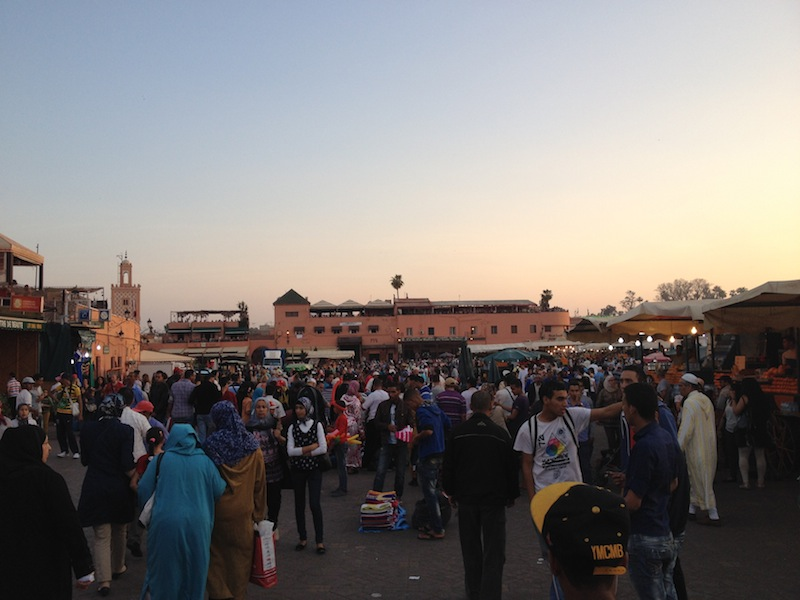 The Djemaa el-Fna in the evening