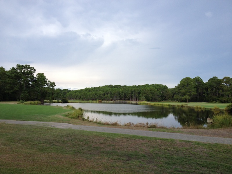 The golf course on Jekyll