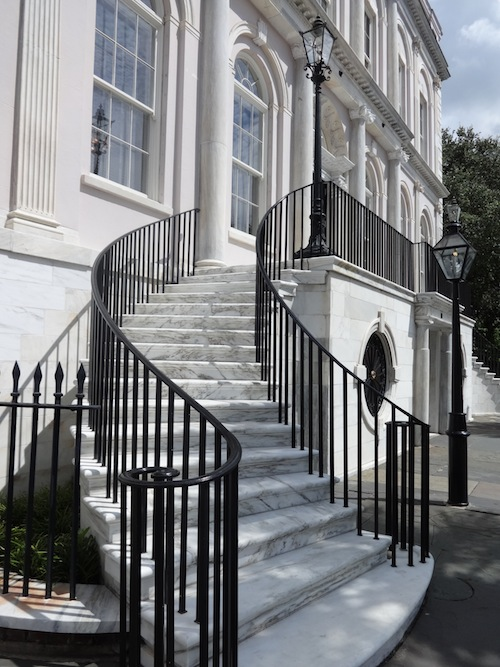 The steps at the City Hall in Charleston