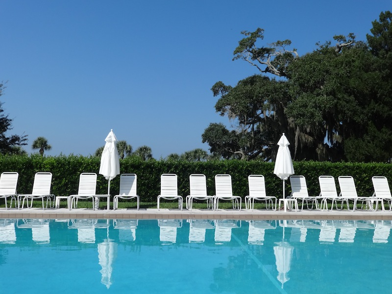 The pool at the Jekyll Island Club Hotel