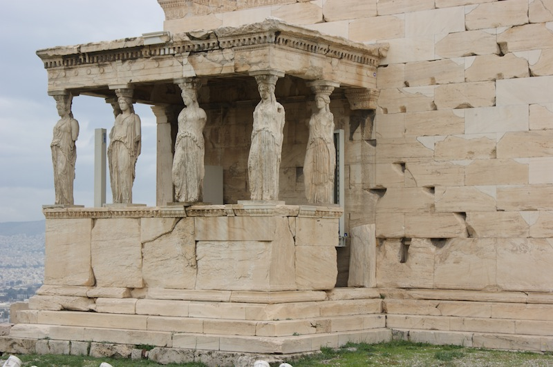 Statues on the Acropolis