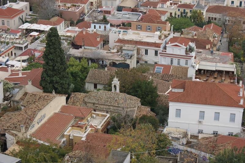 Plaka rooftops from the Acropolis