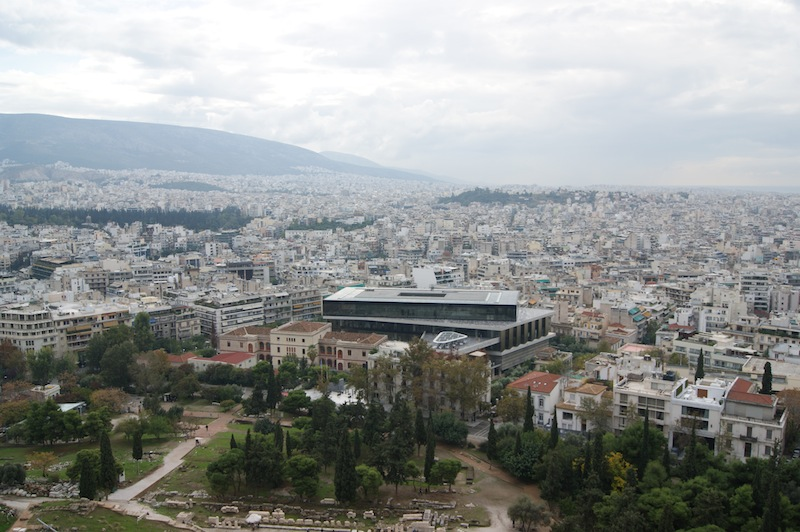 The Acropolis Museum looms large