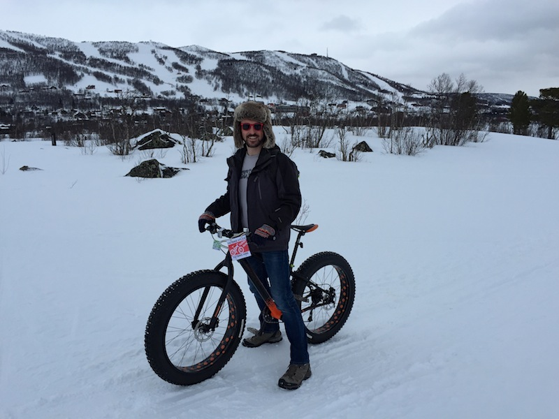G shows off his fat bike
