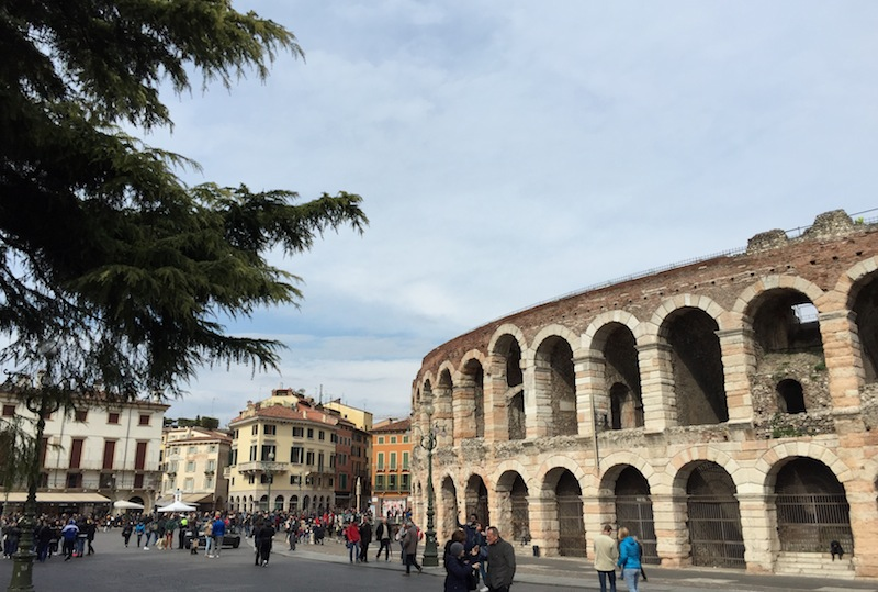 The arena in the Piazza Bra