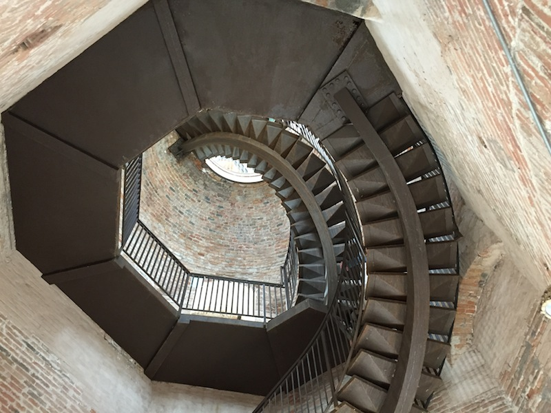 The staircase to the top