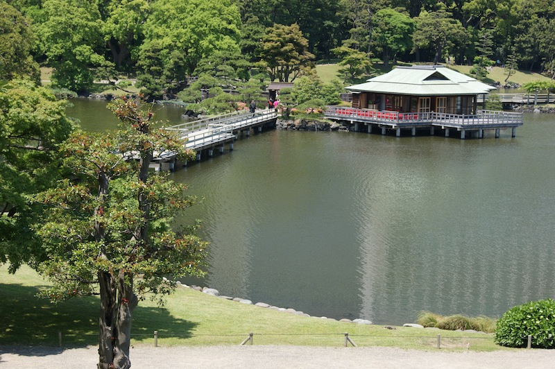 A tea house in the lake