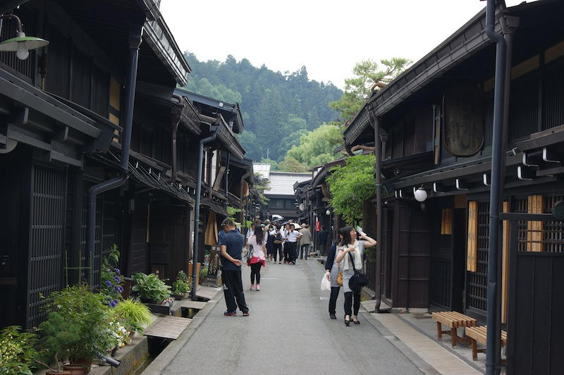 The historic district of Takayama