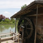 The water wheel does its thing