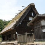 The steep thatched roofs of the past