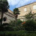 The cloisters of the Franciscan monastery
