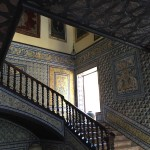 The staircase of the Lebrija Palace