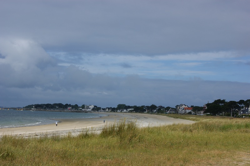 Clouds loom over the beach at Carnac
