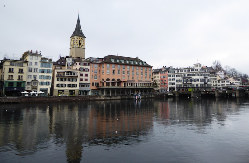 Zurich old town across the River Limmat