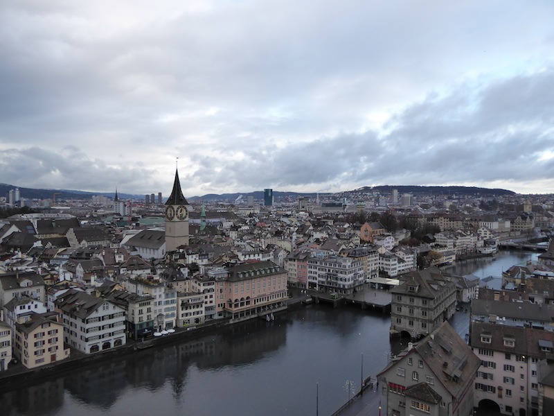 Zurich from the towers of the Grossmunster