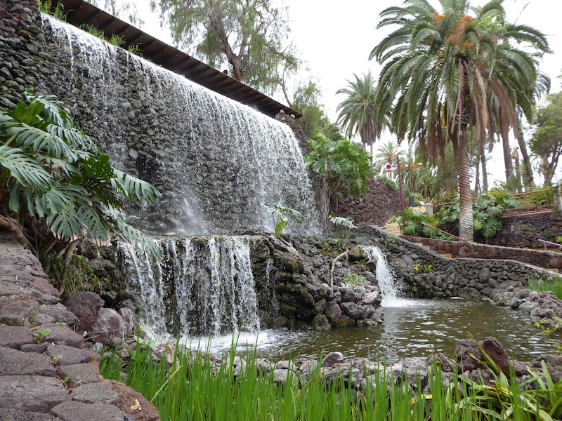 The waterfall in front of the old Hotel Taoro