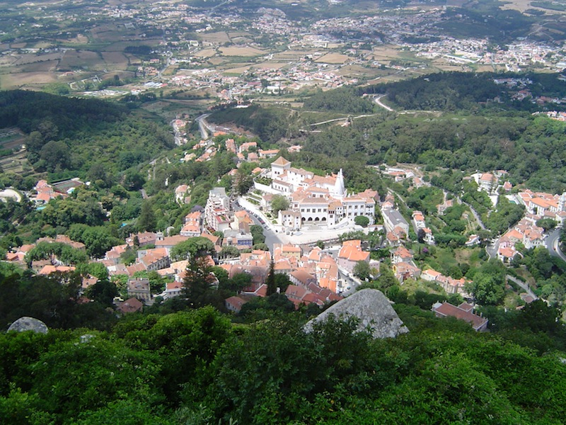 Looking down on the town of Sintra