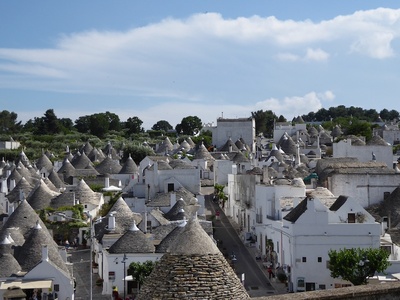 The conical-roofed trulli of Alberobello
