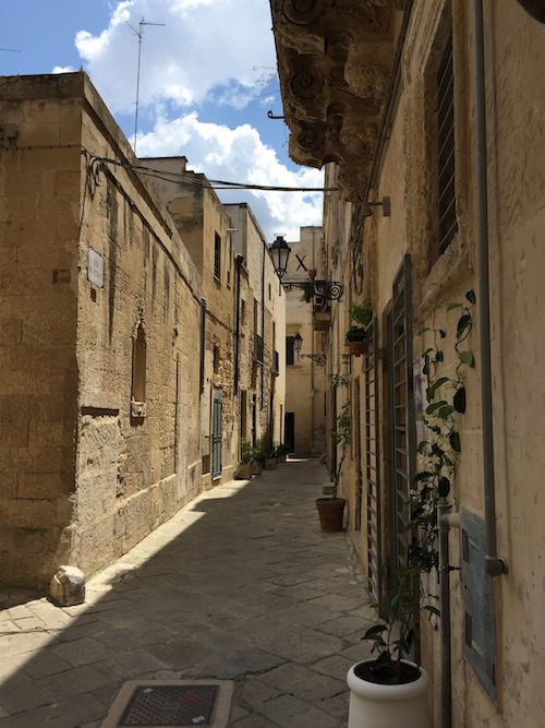 The back streets of Lecce