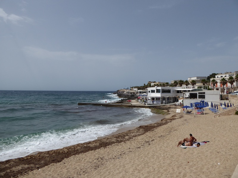 One of the sandier beaches of Santa Maria di Leuca