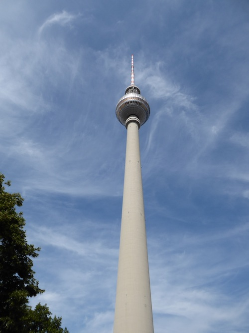 The Fernsehturm towers over the city