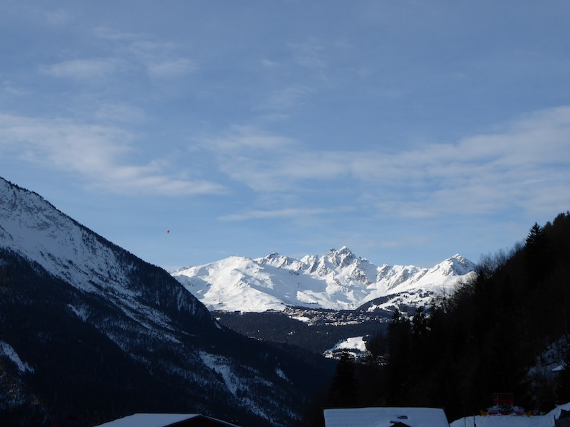 The view from our balcony to Courchevel