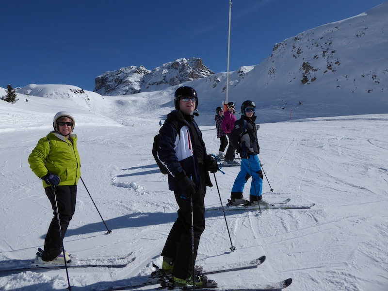 The gang on the slopes