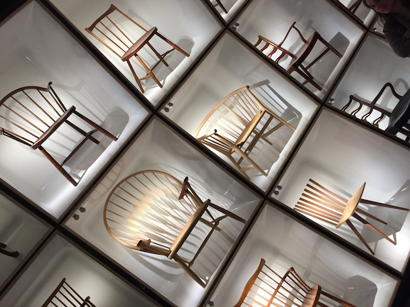 Chairs, inside the design museum
