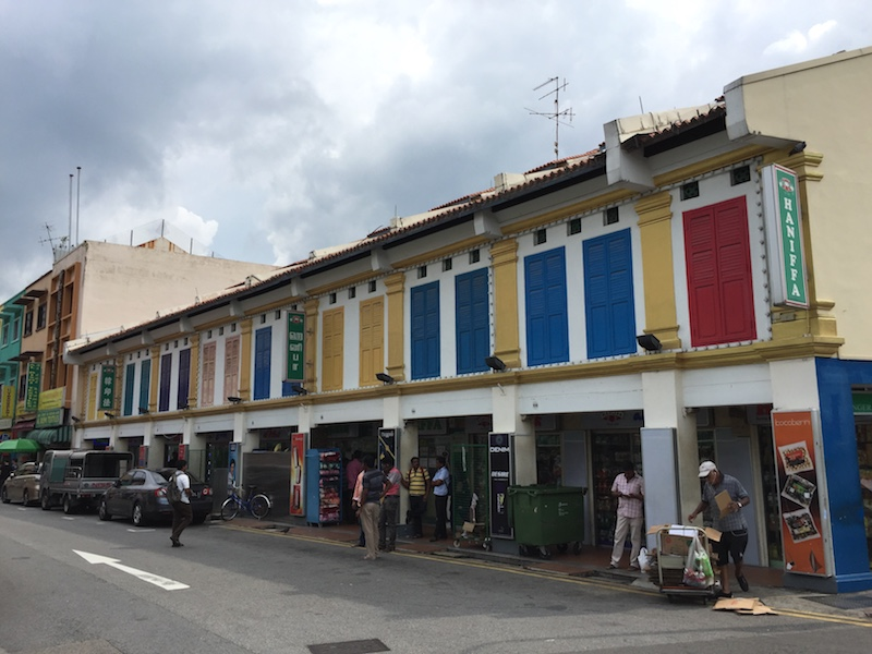 Colourful shophouses in Little India