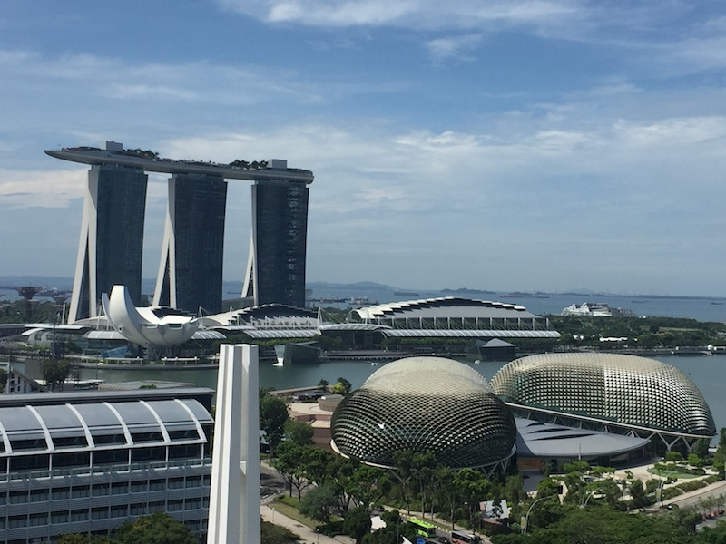 The view to Marina Bay from our hotel