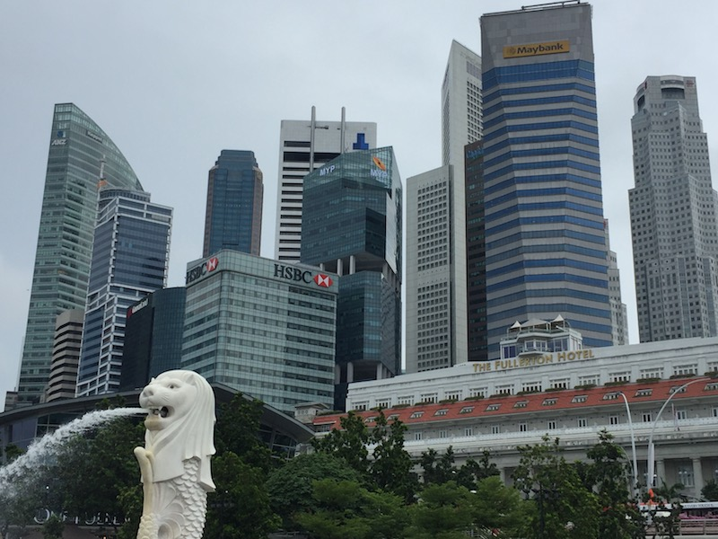 The Merlion and Downtown