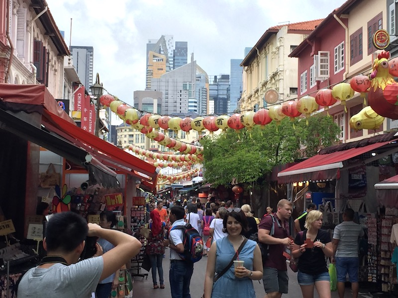 The busy and colourful streets of Chinatown