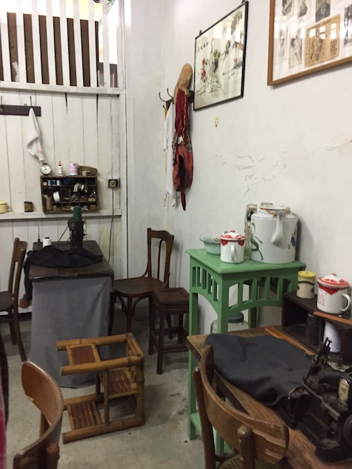 The tailor's workshop within the heritage centre