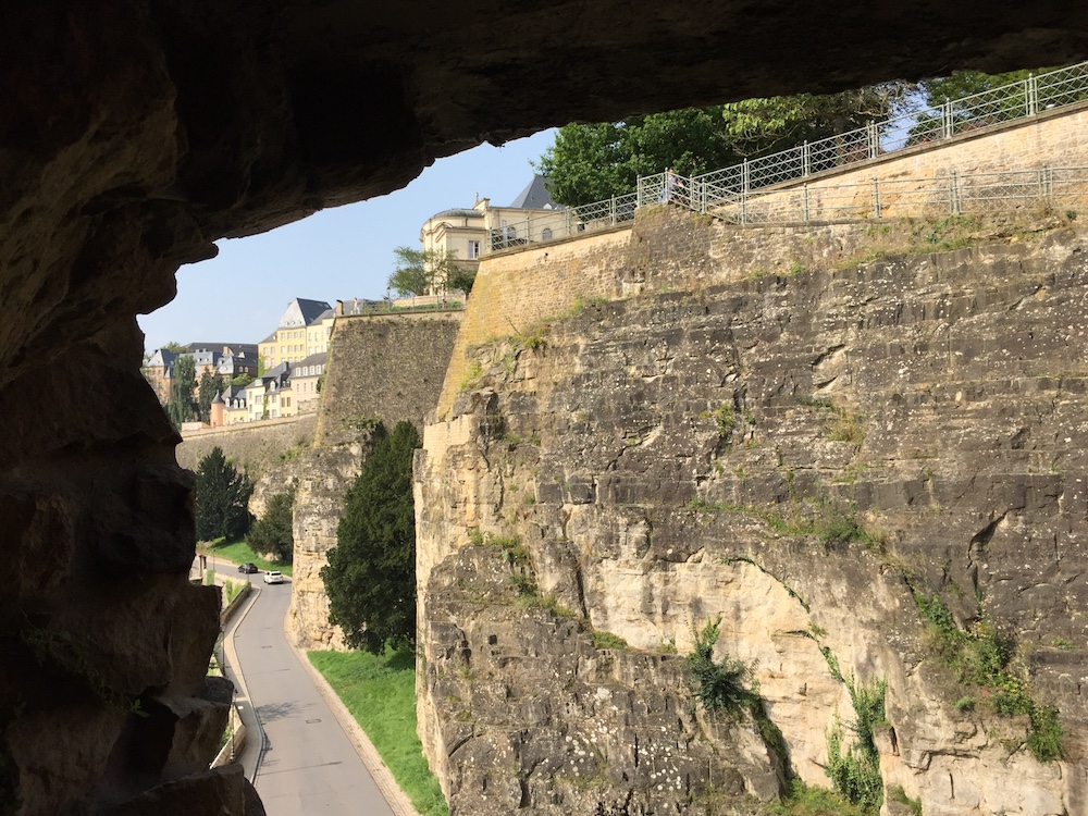 Luxembourg's defensive walls