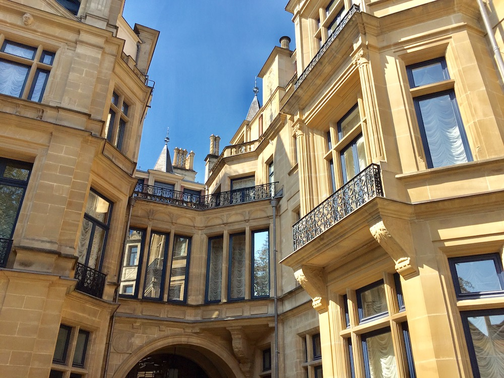 The rear of the Grand Ducal Palace
