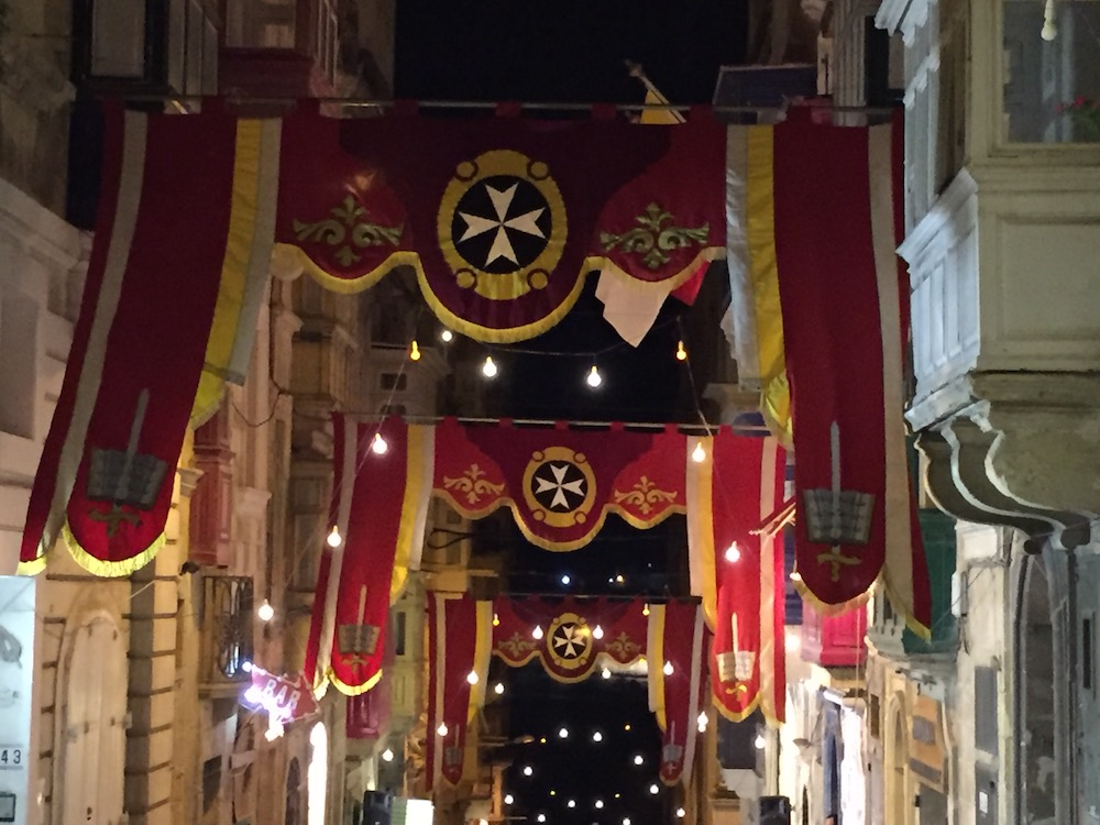 Valletta's decorated streets