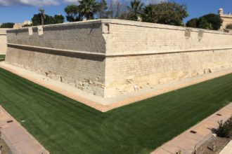 The historic walls of Mdina