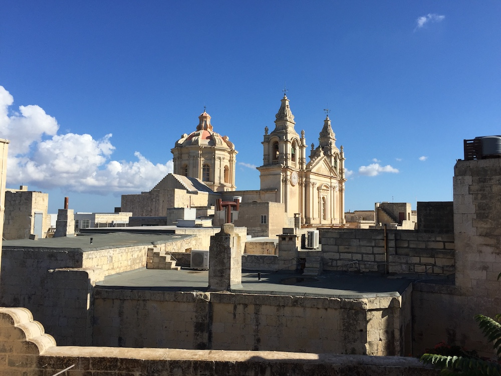 St Paul's Cathedral dominates the Mdina skyline