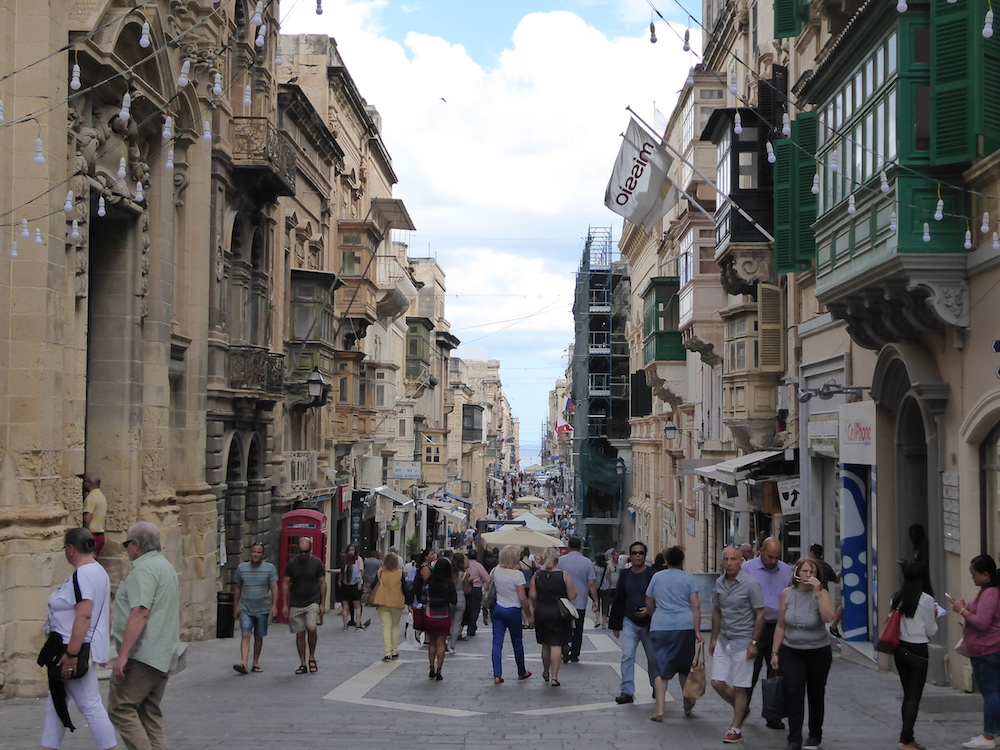 One of Valletta's main streets