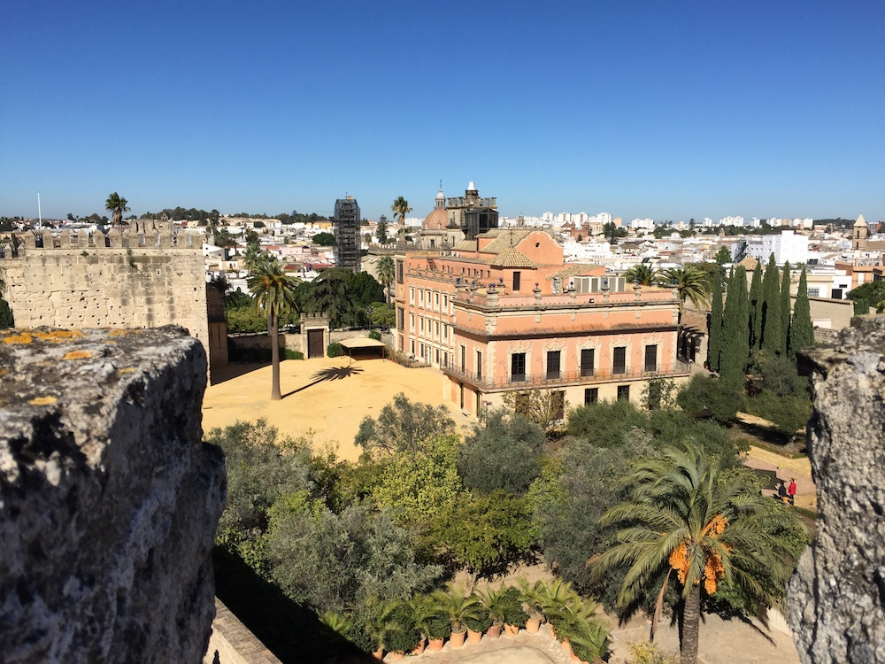 The grounds of the Alcazar in Jerez